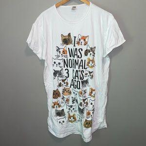 """""""I was normal 3 cats ago"""" sleep Shirt"""